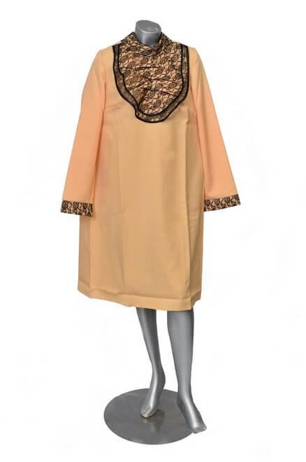 Платье женское габардин с кружевами