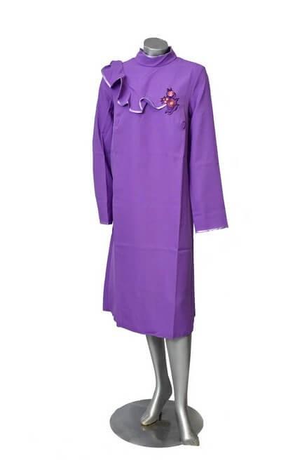 Платье женское с воланом